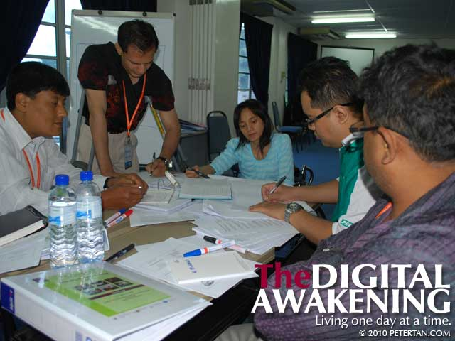 Group work at Disability Equality Training TOT 2010 at MAKPEM