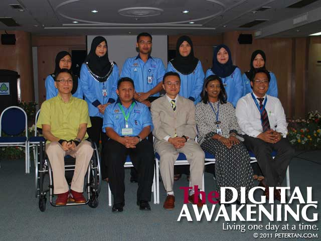 Group photo with staff of SOCSO