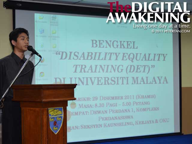 Disability Equality Training (DET) Workshop at Universiti Malaya