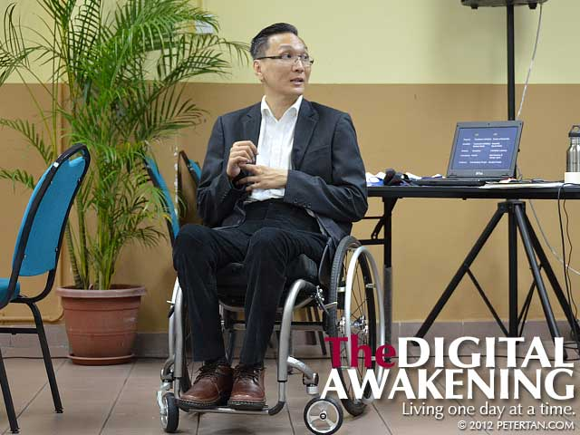 Peter Tan facilitating DET Workshop for Disability Liaison Officers (DLOs)