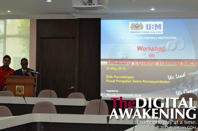 Disability Equality Training at Universiti Sains Malaysia