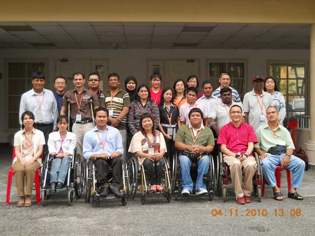 Group photo of Disability Equality Training TOT 2010 at MAKPEM