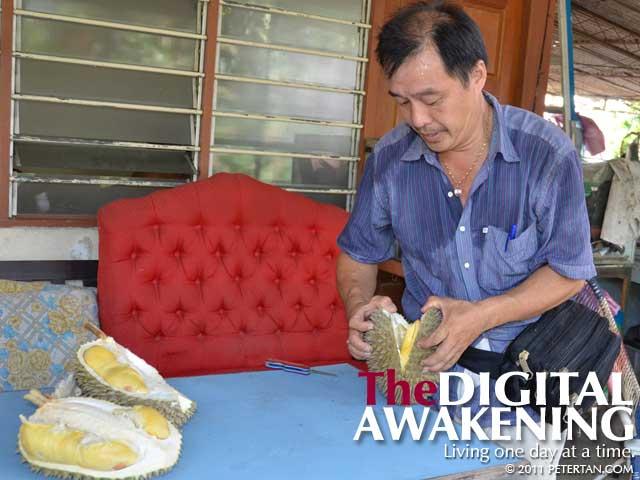 Balik Pulau durian - Ah Wong of Stall 808