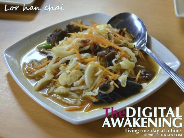 Lor han chai at Hainanese Delights Restaurant Penang