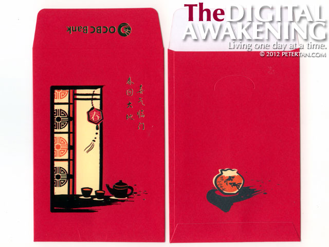 Red packets from OCBC 2012
