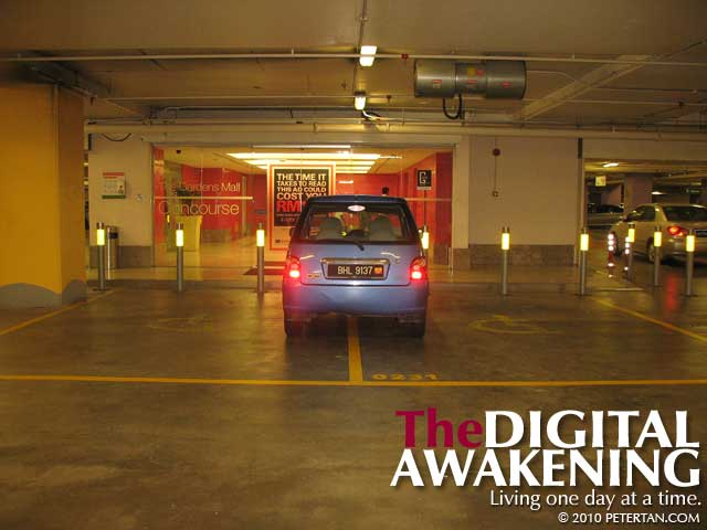 Abuse of accessible parking at The Gardens Mid Valley