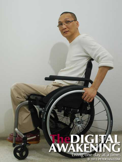 Peter Tan - wheelchair user - Tilite ZRA Series 2 rigid titanium wheelchair