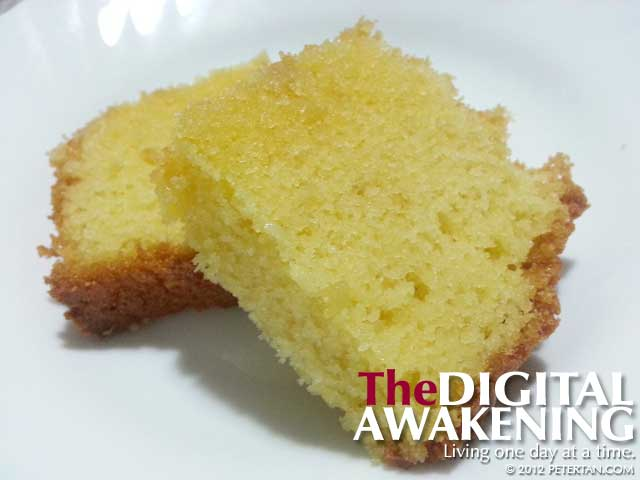 Eleanor Cheah's sugee cake baked with recipe from her mother-in-law